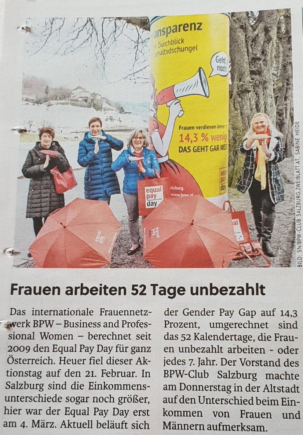 BPW Salzburg in den Salzburger Nachrichten